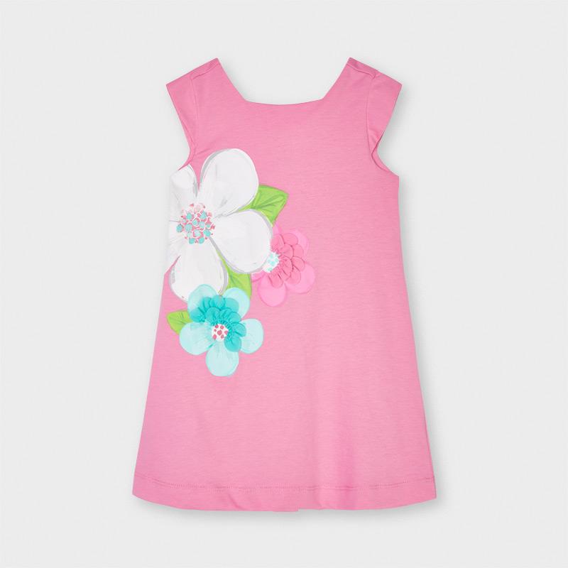 MAYORAL GIRS Flower Print Dress 3956-028