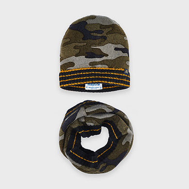 MAYORAL Boys Set Hat/Scarf 'Camouflage' 10892-085 NOW £9.95