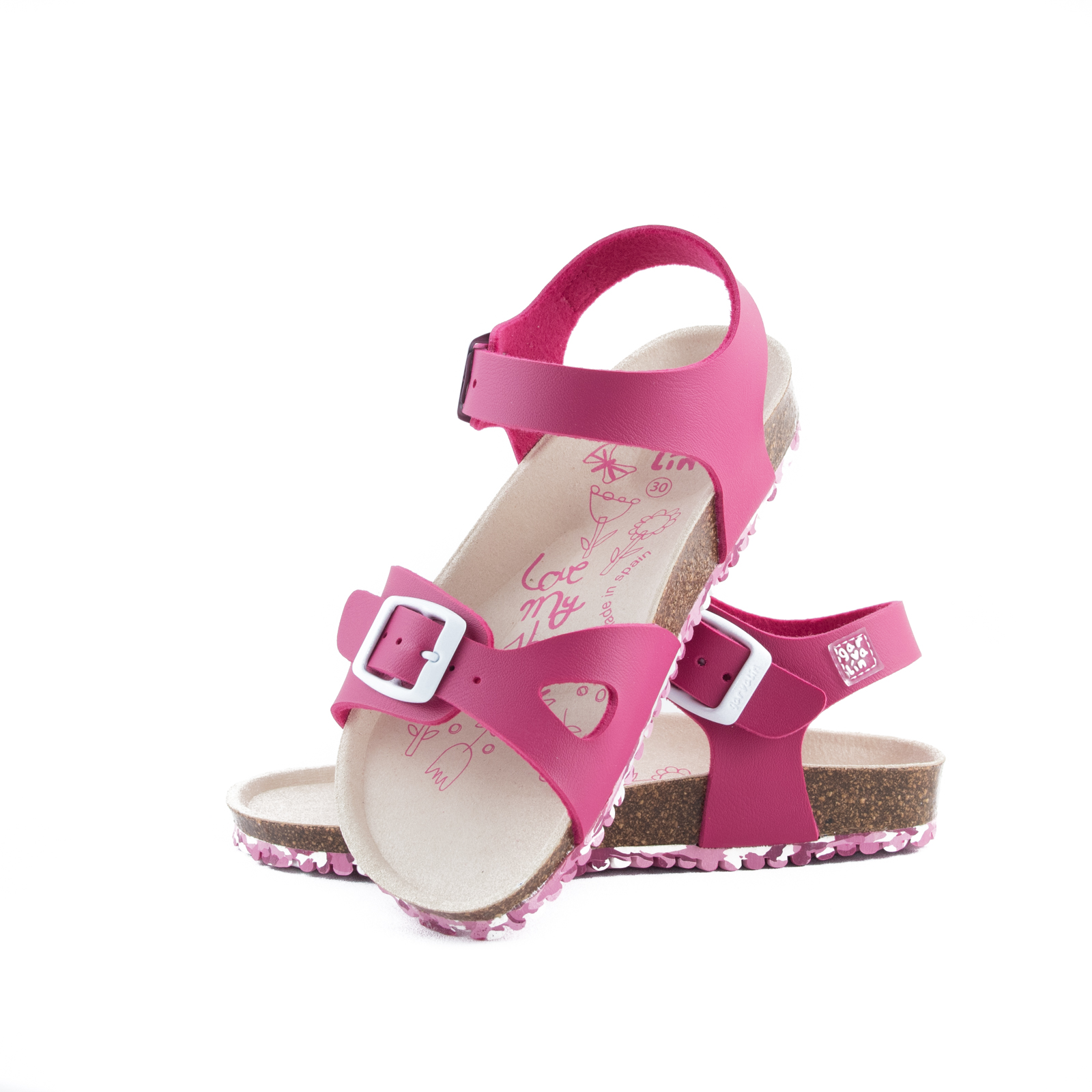 GARVALIN Sandals Fuchsia 192663-A