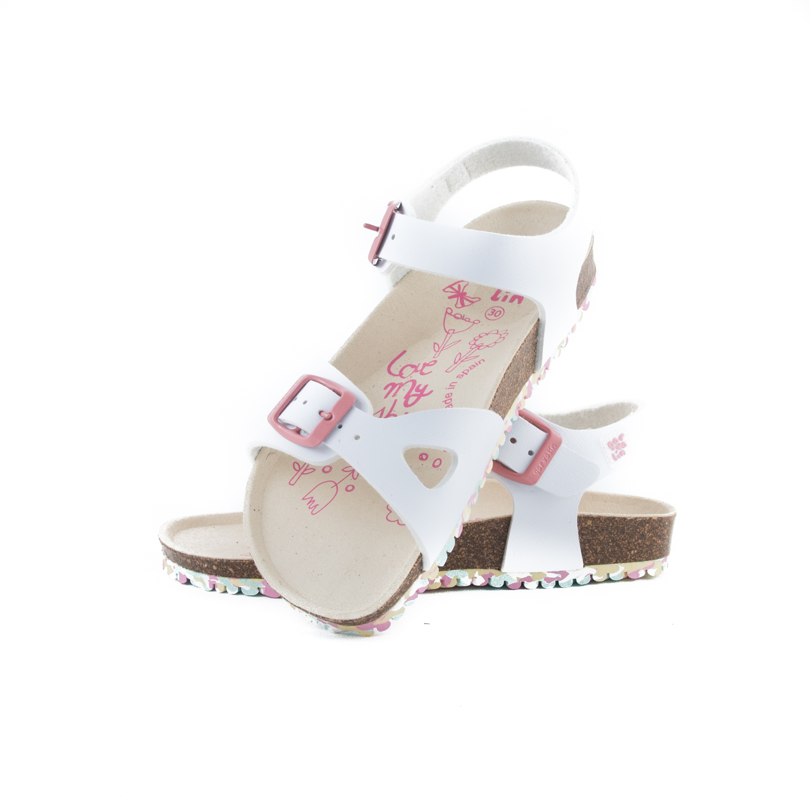 GARVALIN Sandals White 192663-B