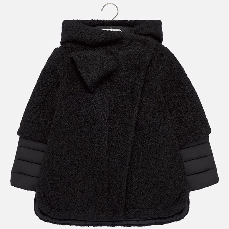 MAYORAL Girls Coat Black 7426-060