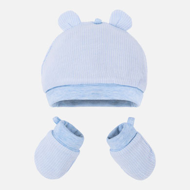 MAYORAL BABY Hat & Mittens Set. Blue. 19916-038
