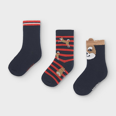 MAYORAL Boys Set 3 Socks Navy 10833-059