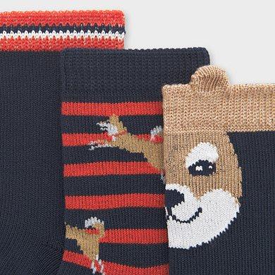 MAYORAL Boys Set 3 Socks Navy 10833-059 NOW £4