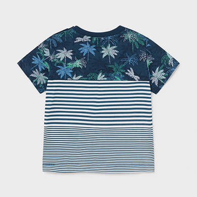 MAYORAL BABY BOY T-Shirt Palm Trees and Stripes 1014-009 NEW SEASON