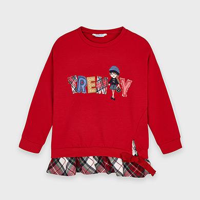 MAYORAL Girls Sweatshirt 'Trendy' Red 4401-073 NOW £12.95