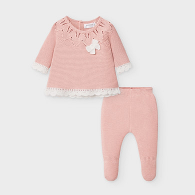 MAYORAL Baby Girl Knitted 2 piece set Pink 2549-029