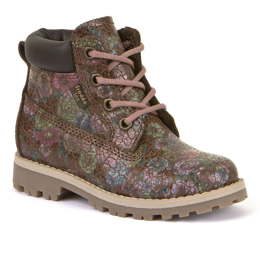 FRODDO Girls Boots Floral Brown Waterproof G3110136-8 NOW £41.50