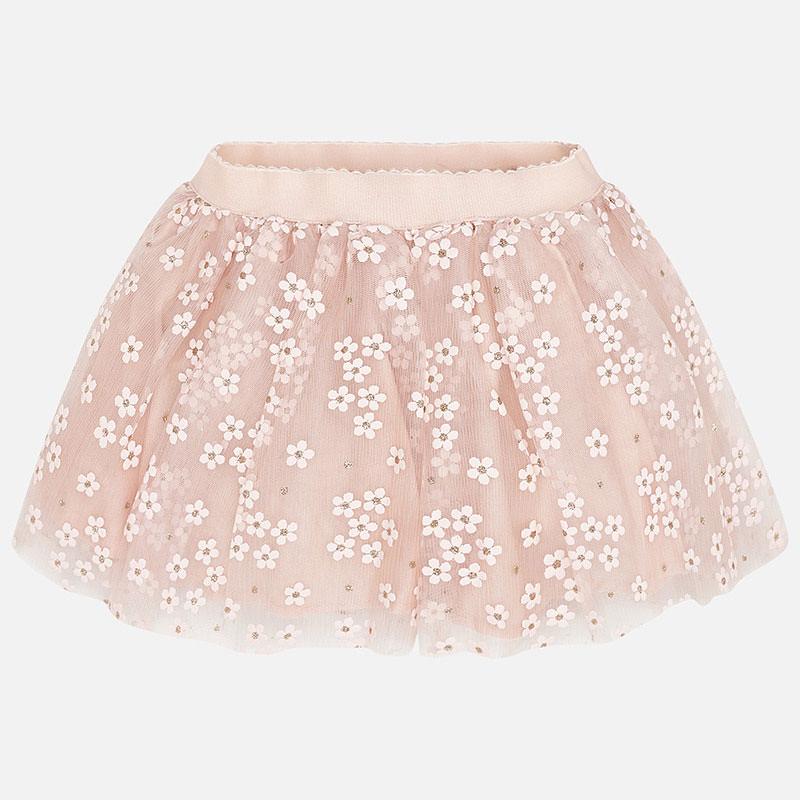 MAYORAL Girls Skirt Flower Tulle Peach 3901-072. Before £21.50