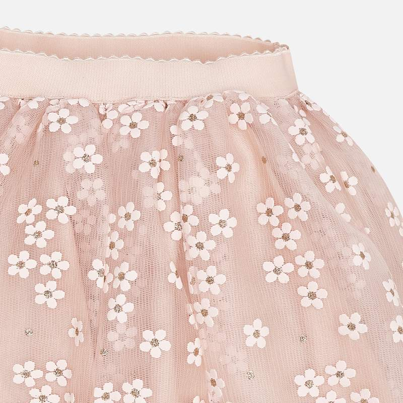 MAYORAL Girls Skirt Flower Tulle Peach 3901-072