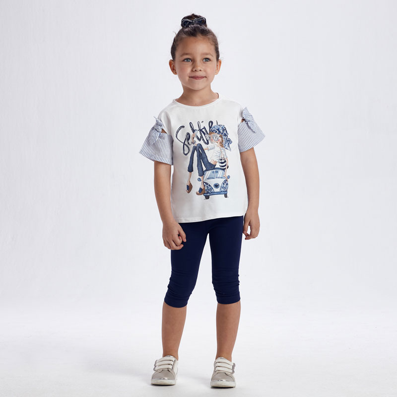 MAYORAL GIRLS Set Leggings and Selfie T-Shirt 3736-058