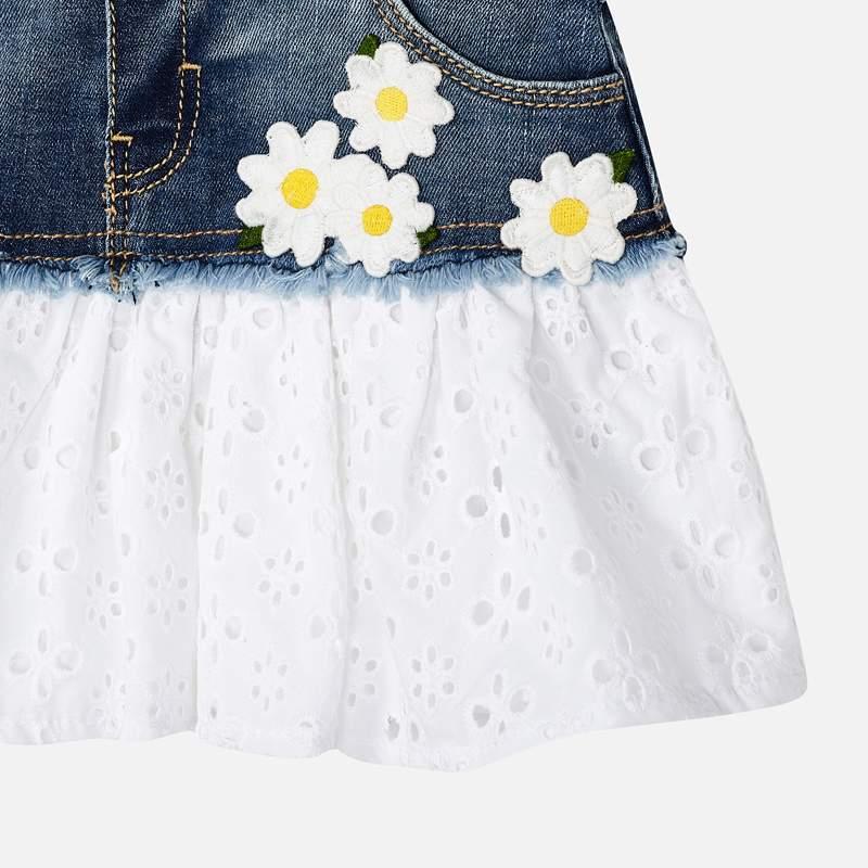 MAYORAL Girls Denim combined skirt dungarees 3909-005