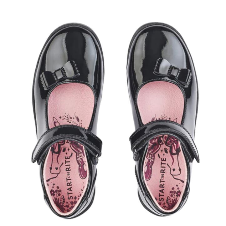 School Shoes START RITE GIRLS 'Giggle' Patent 2799-3
