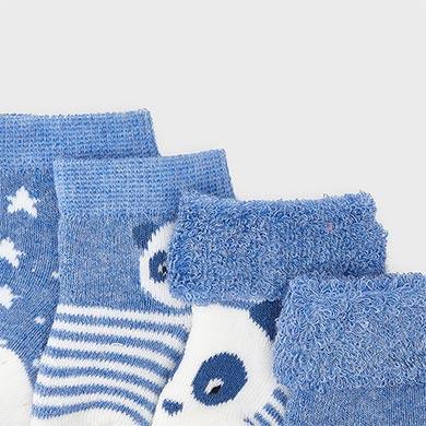 MAYORAL Boys Socks Set Blue 9302-80 WAS £9.95 NOW £4.95