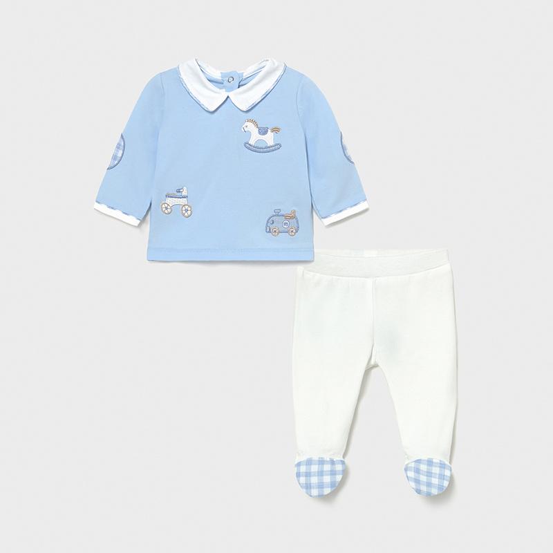 MAYORAL NEWBORN BOY Knit Leg Warmer Set 1564-015