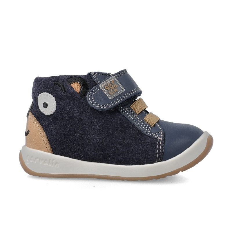 GARVALIN Boys Ankle Boots Navy Bear 201336-A NOW £36.95