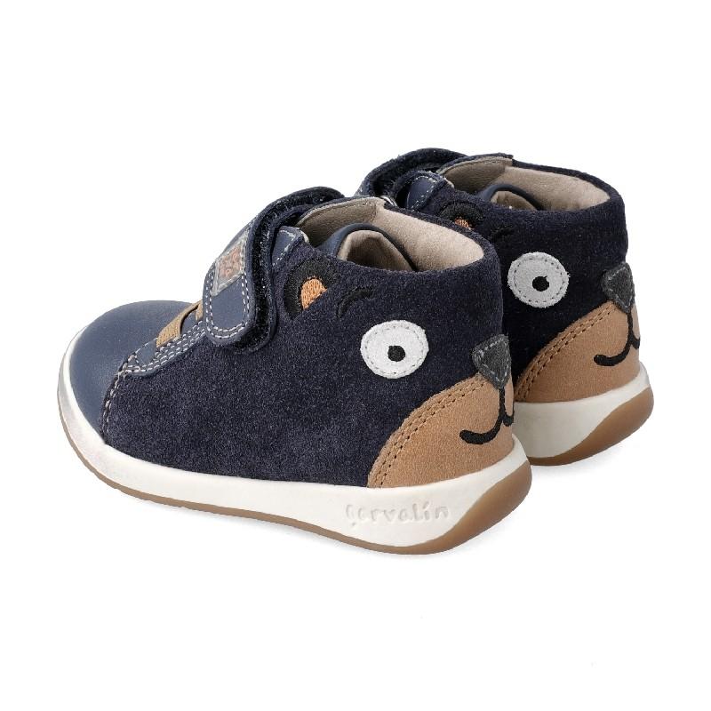 GARVALIN Boys Ankle Boots Navy Bear 201336-A NOW £36.95
