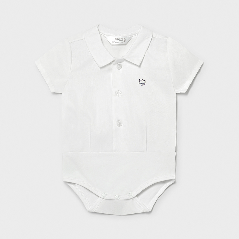 MAYORAL NEWBORN BOY White Body Suit 1701-049
