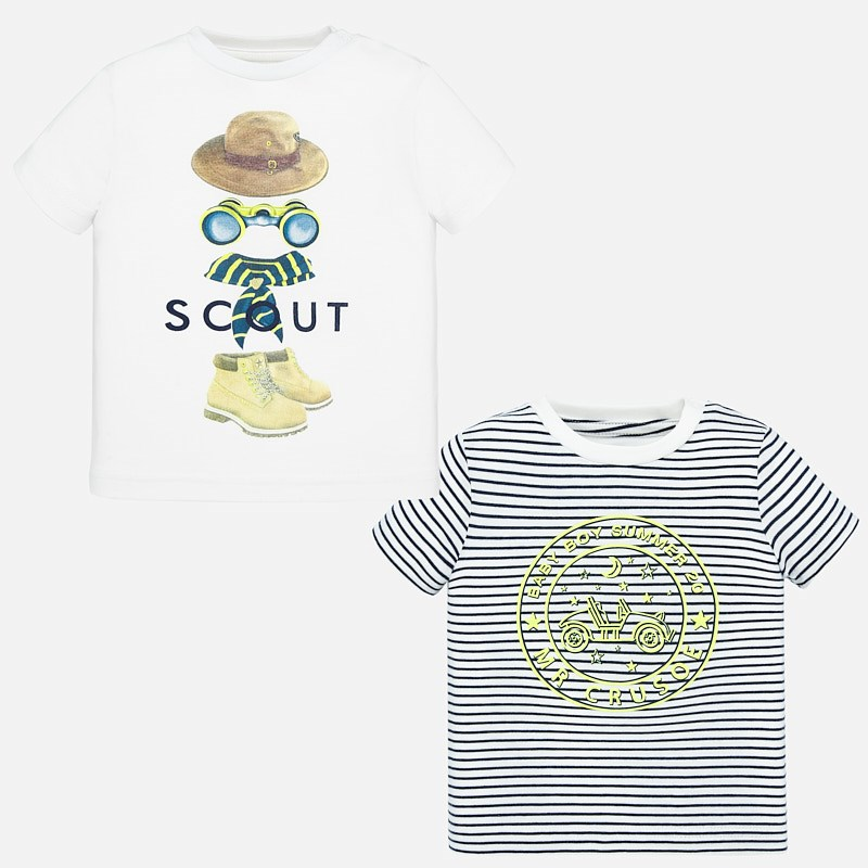 MAYORAL Baby. Set of two short sleeved t-shirts 1047