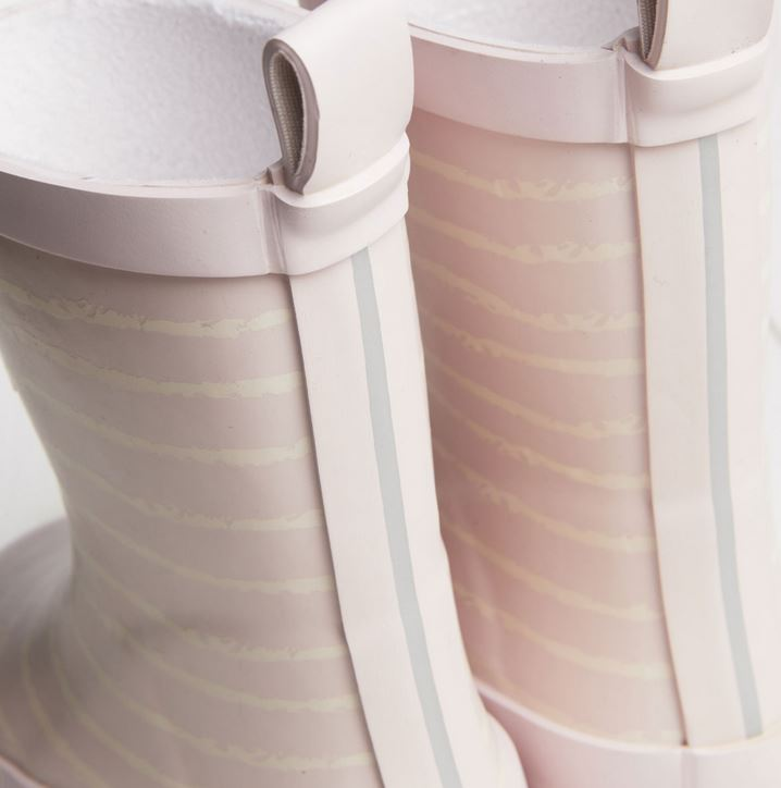 GRASS AND AIR Pink Stripe Wellies