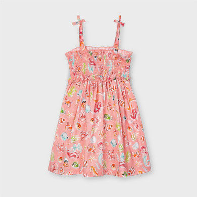 MAYORAL GIRLS Honeycomb 'Sea' Dress with Smock 3954-077 NEW SEASON