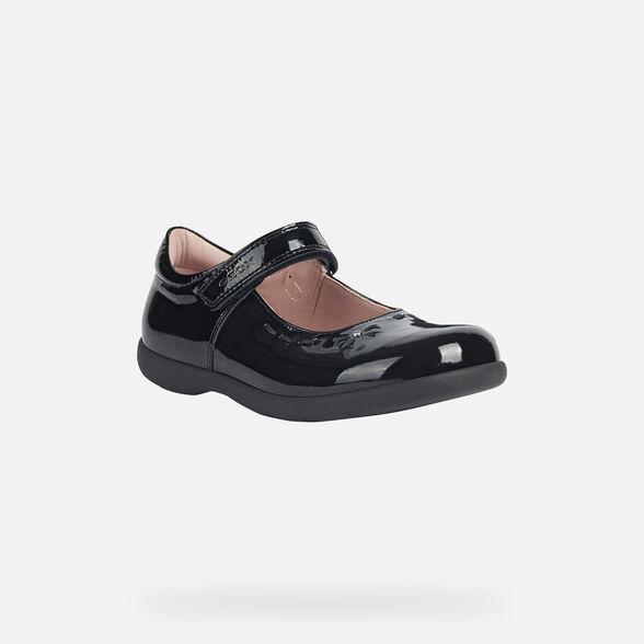 School Shoes GEOX Mary Jane J Naimara G.B J16FHA_Patent