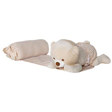 MAYORAL BABY Anti-roll bear cushion. Natural. 19798-035