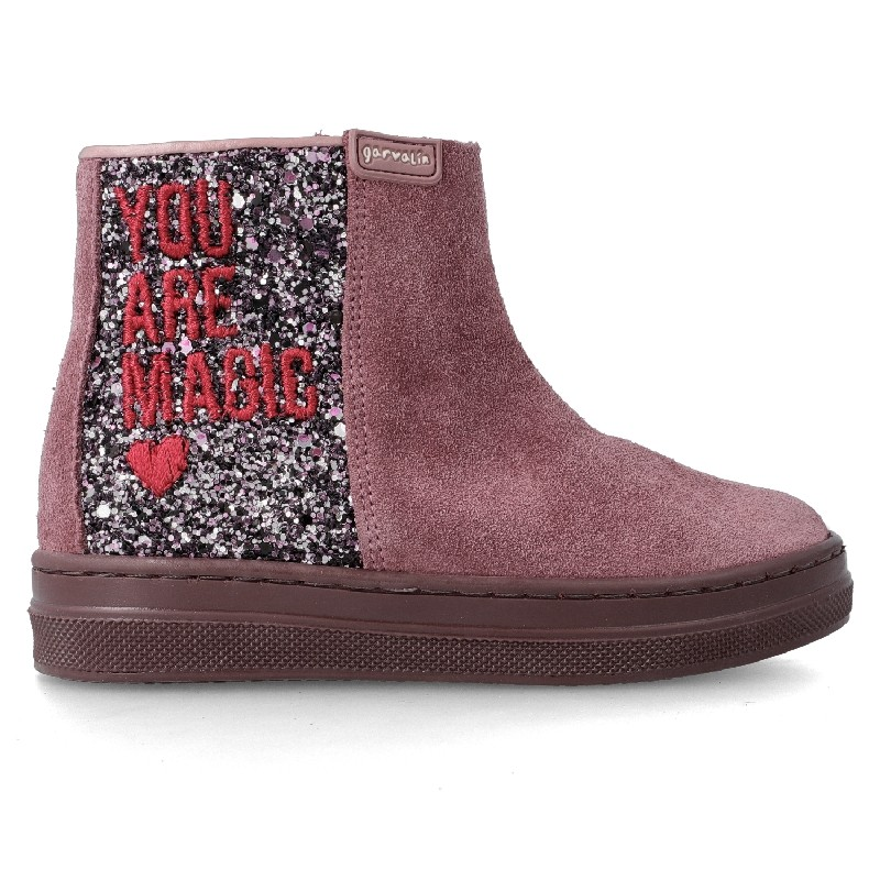 GARVALIN Girls Boots Dark Pink Glitter 201637 NOW £35.95