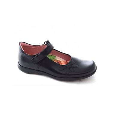 """School Shoes PETASIL """" Bonnie """" Black Leather 4975"""