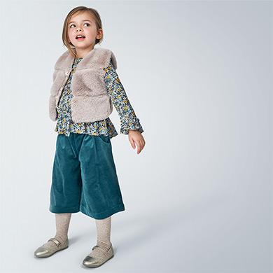 MAYORAL Girls Faux Fur Vest Sand 4351-011 NOW £13.95