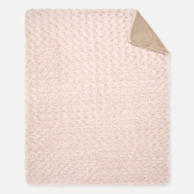 MAYORAL BABY Blanket with rosette pattern. Hazelnut. 19033-077