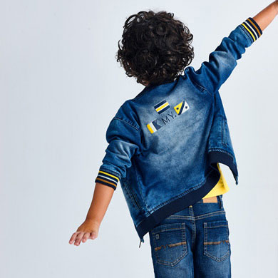 MAYORAL BOYS Ecofriends Soft Denim Jacket Bomber Style 3407-019 NEW SEASON