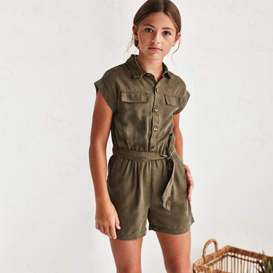 MAYORAL TEEN GIRL Ecofriends Playsuit with Belt 6819-077 NEW SEASON