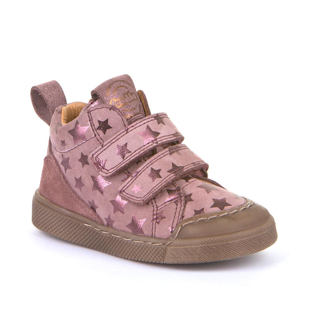 FRODDO Girls Dark Pink Star double velcro trainers G2110081-7