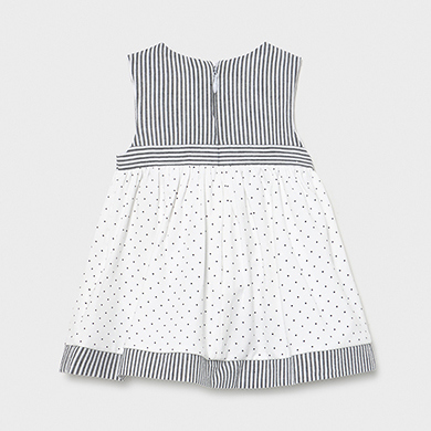 MAYORAL BABY GIRL Combined Dress 1804-082