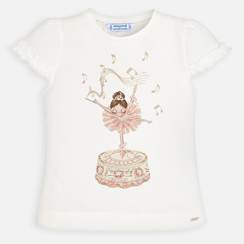 MAYORAL Girls T-Shirt Ruffled sleeves ballerina 3001-066. Before £13.95