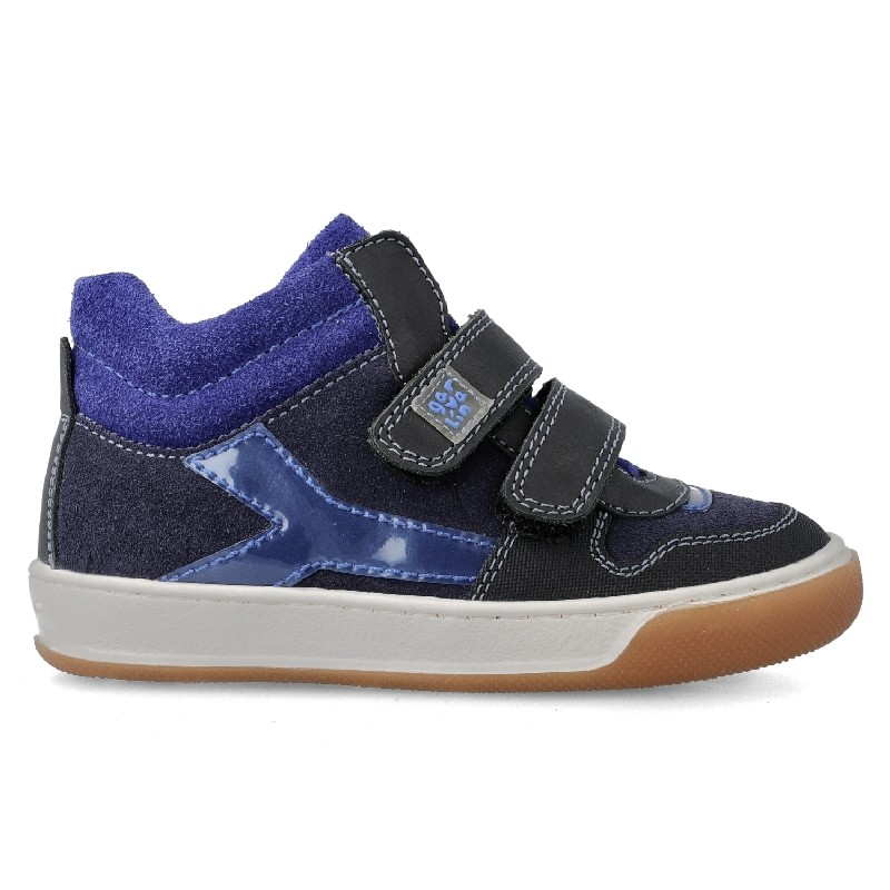 GARVALIN Boys Ankle Boots Navy and Blue 201452-A NOW £39.95