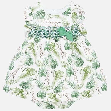 MAYORAL Baby Dress with smock- Amazon 1879-041. Before £32.95