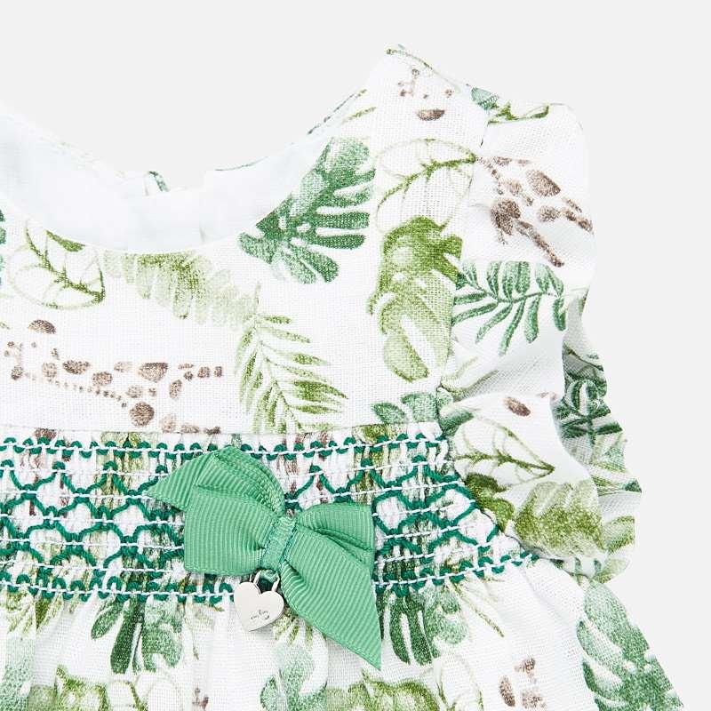 MAYORAL Baby Dress with smock- Amazon 1879-041