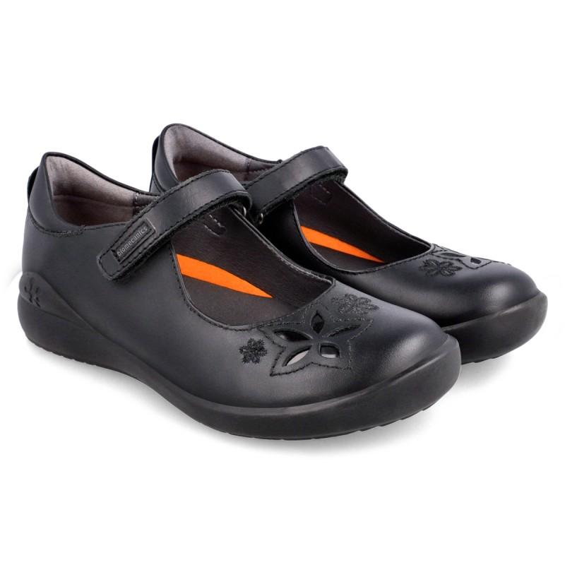 School Shoes BIOMECANICS Mary Jane Flowers 211100-A