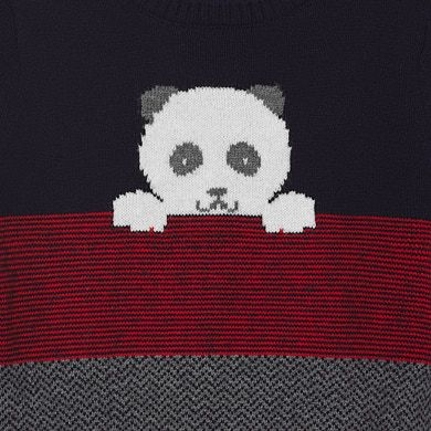 MAYORAL Baby Boys Sweater Panda Navy 2344-097