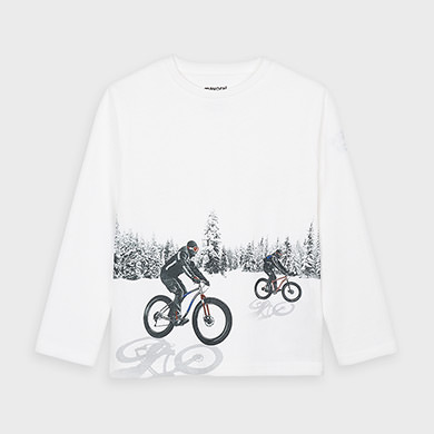 MAYORAL Boys T-Shirt Long Sleeved 'Reflective' 4049-60  NOW £7.50