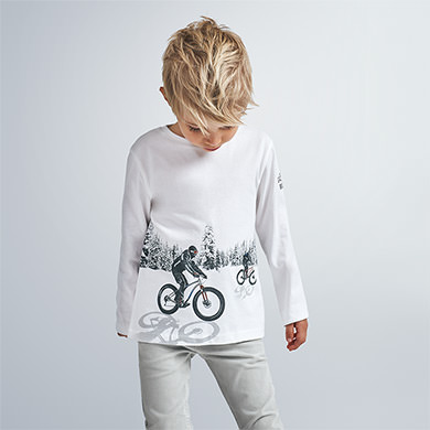 MAYORAL Boys Long sleeved reflective t-shirt 4049-60