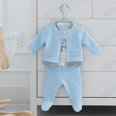 MAYORAL Baby Boys Stars Set Blue 2641-73
