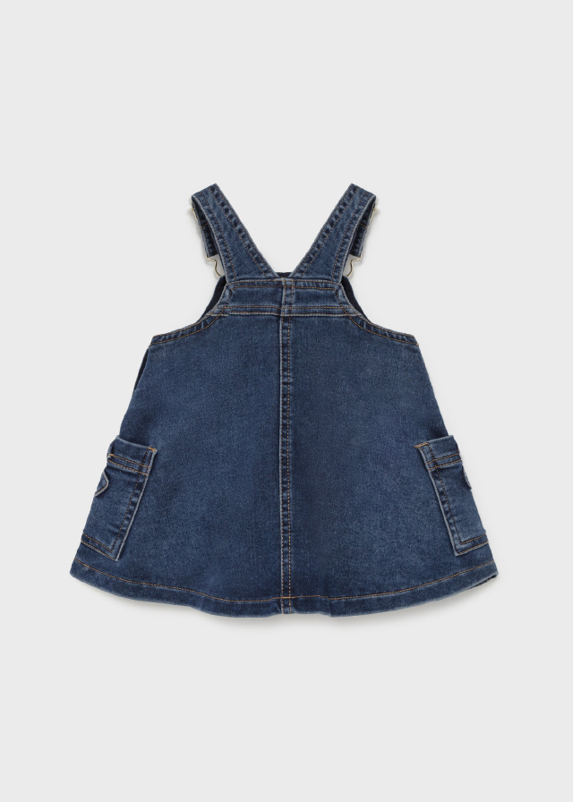 MAYORAL BABY GIRL Denim Dungaree Dress  2905-05