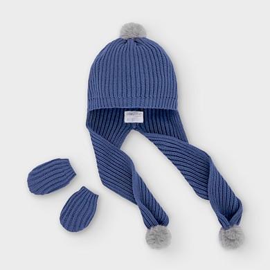 MAYORAL Boys/Girls Set Hat & Gloves Blue 9315-022 NOW £9.95