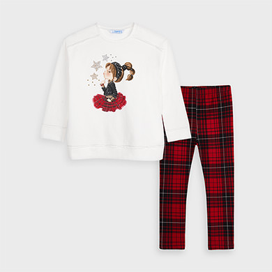 MAYORAL GIRLS Chequered set Red 4733-010
