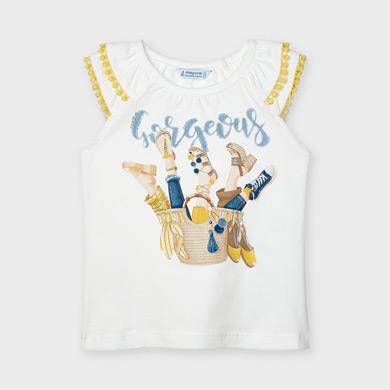MAYORAL GIRLS T-Shirt 'Basket' White 3023-042