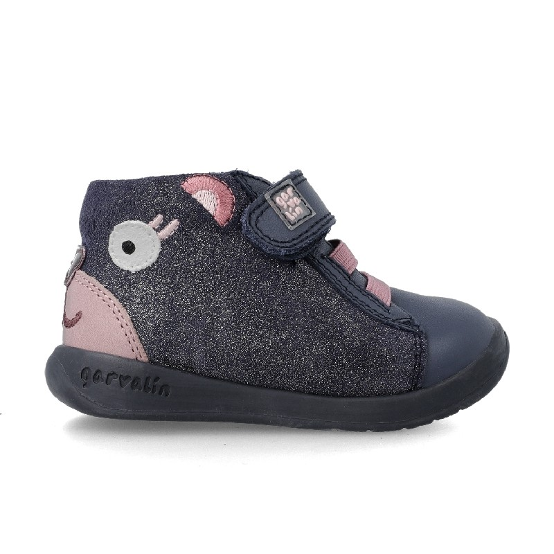 GARVALIN Girls Ankle Boots Bear Navy/Pink 201328 NOW £36.95
