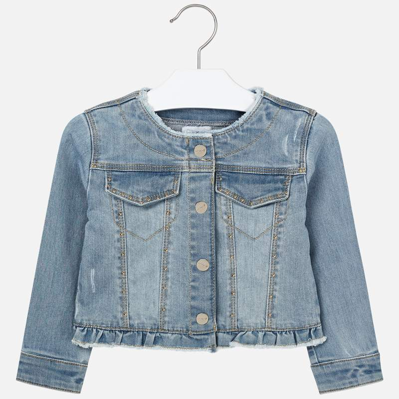 MAYORAL Girls Jacket Denim Bleached 3467-094